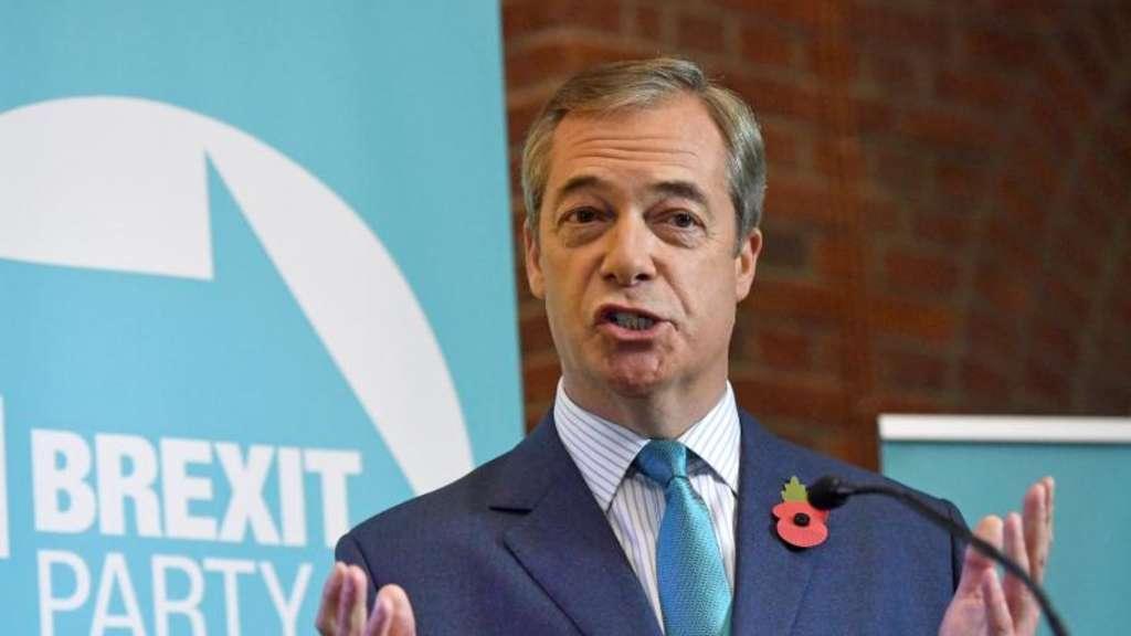 Nigel Farage Chef der Brexit-Partei will Schaden anrichten- und zwar vor allem bei der Labour-Partei