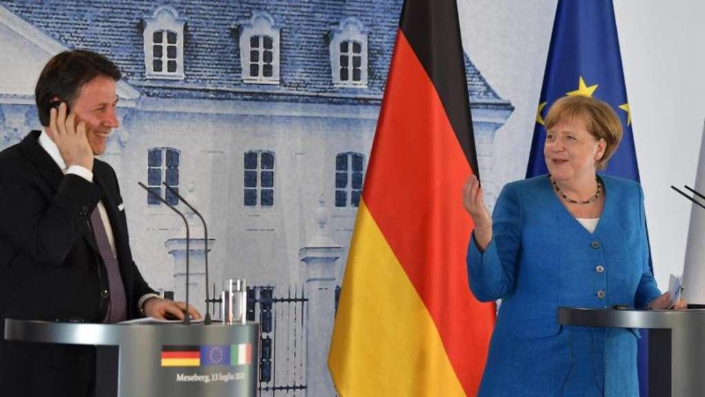 EU-Wiederaufbaufonds - Merkel und Conte grundsätzlich einig