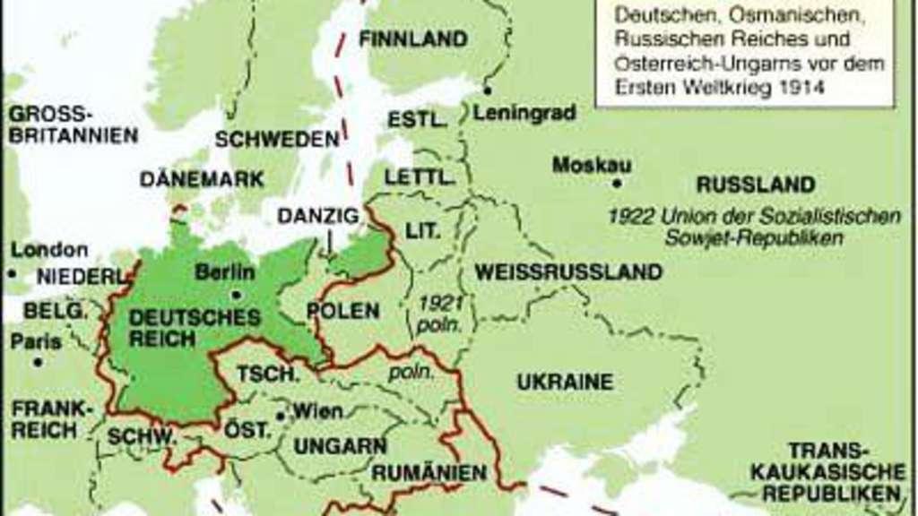 Deutsche Karte Vor Dem 1 Weltkrieg.Das Ende Dreier Monarchien Politik