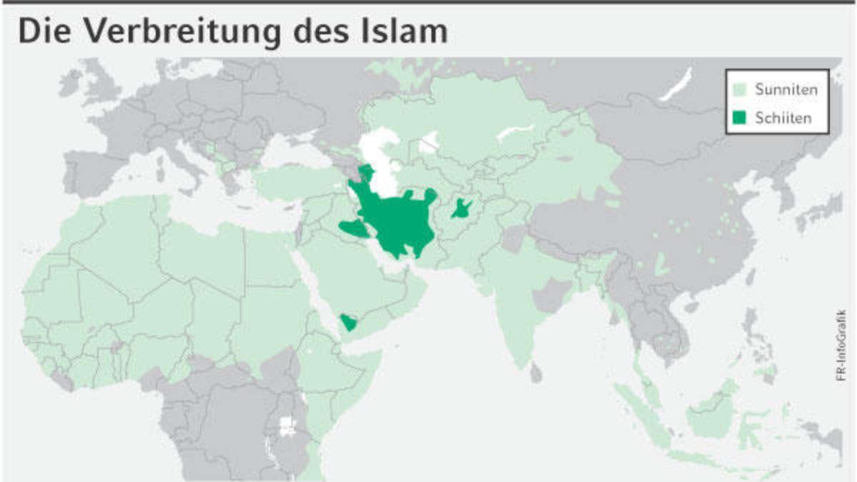 Karte Sunniten Schiiten