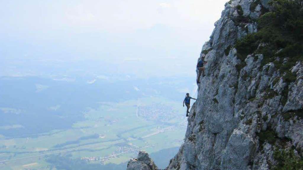 Pidinger Klettersteig : Hohes risiko im klettersteig panorama