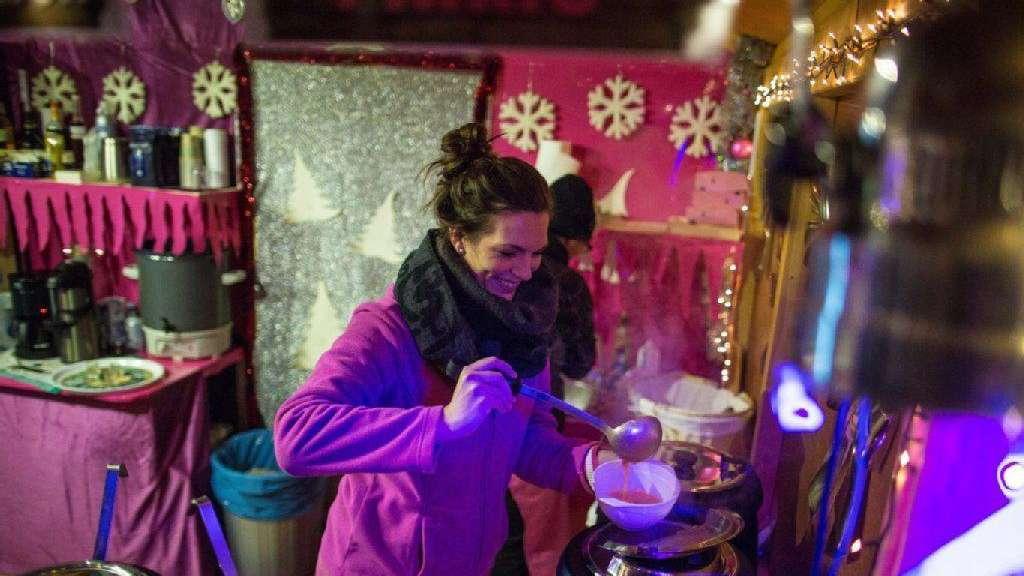 Pinker Weihnachtsmarkt.Budenzauber Ganz In Pink Frankfurt