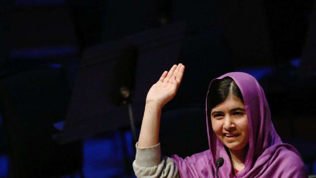 Malala spricht beim Women of the World Festival (WOW) in London.