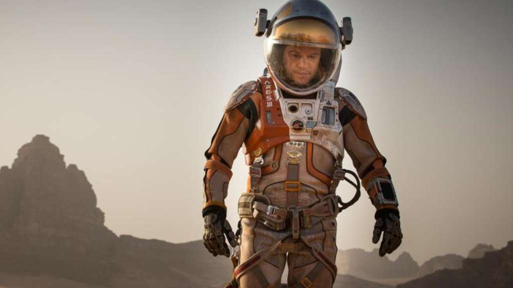 "Matt Damon in einer Szene des Kinofilms ""Der Marsianer - rettet Mark Watney"". Foto: Twentieth Century Fox"