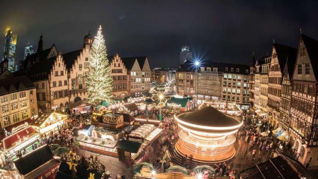 Frankfurter Weihnachtsmarkt.Frankfurter Weihnachtsmarkt öffnet Heute Polizei