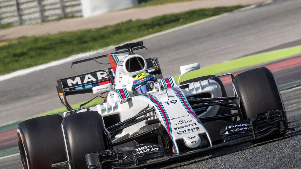 Der Rennwagen Typ FW40 vom Team Williams.