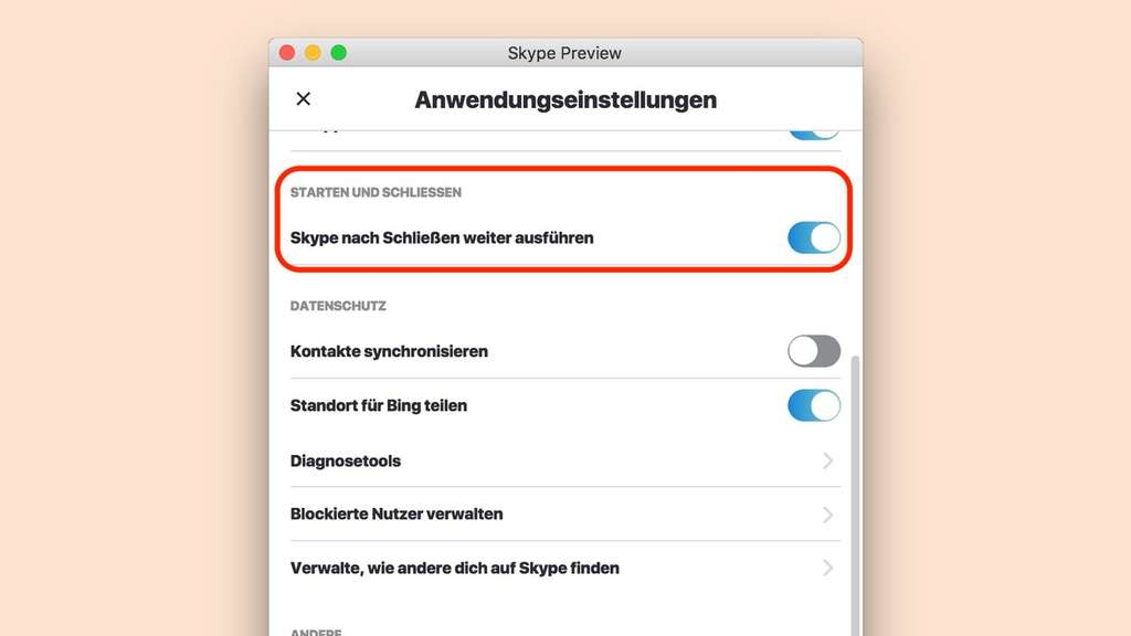 skype blockierte kontakte