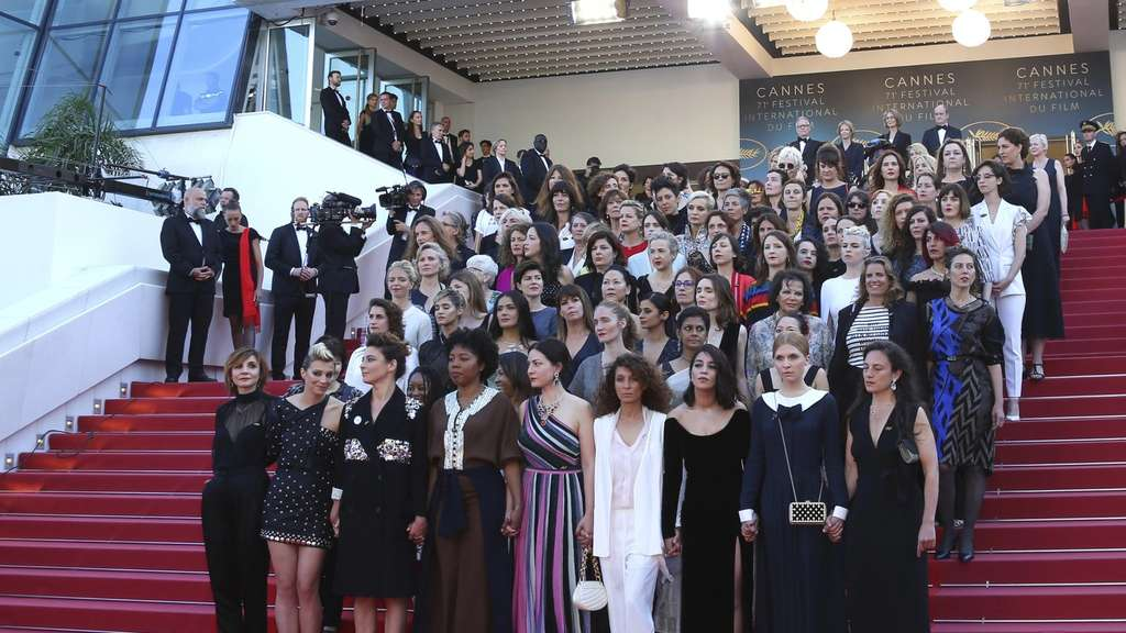 82 Film-Frauen protestieren in Cannes