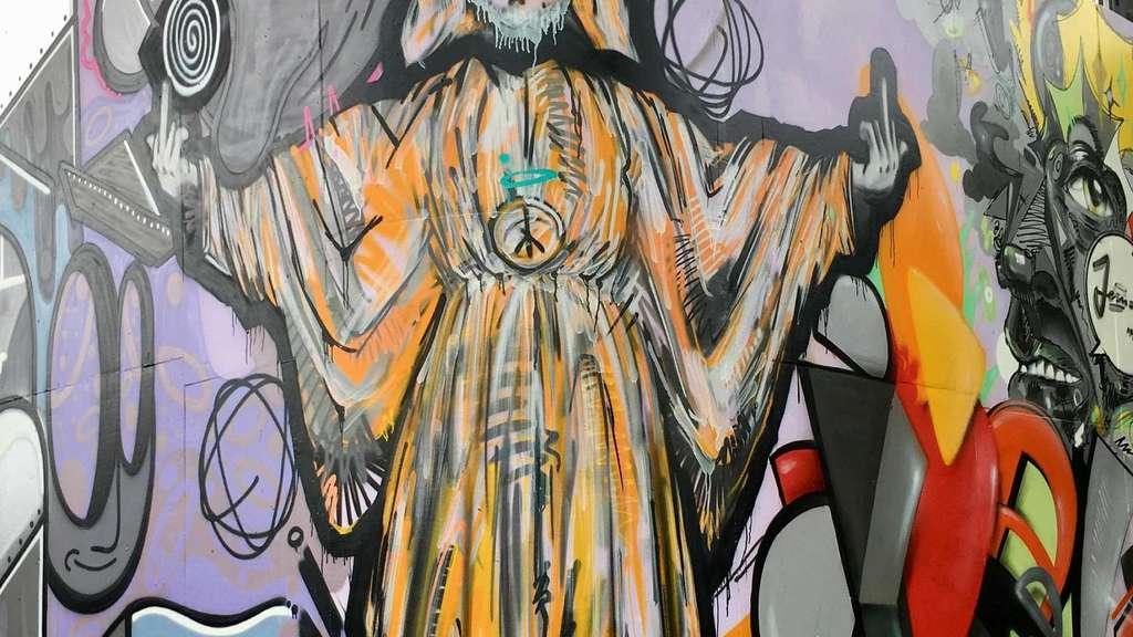 Jesus Graffiti Mit Stinkefinger Provoziert Mörfelden Walldorf