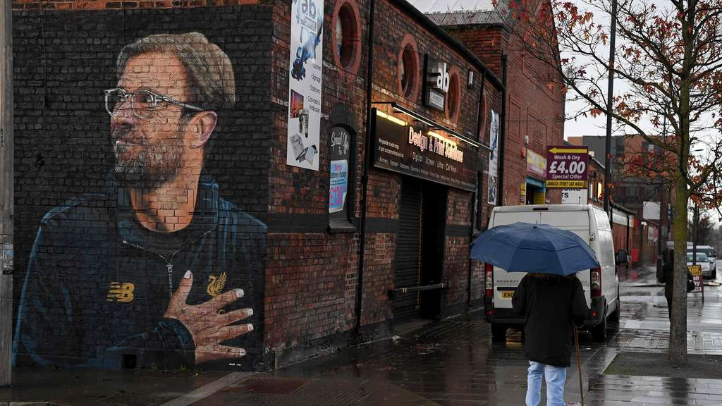 """Do or die"": Jürgen Klopp als Streetart in Liverpool."