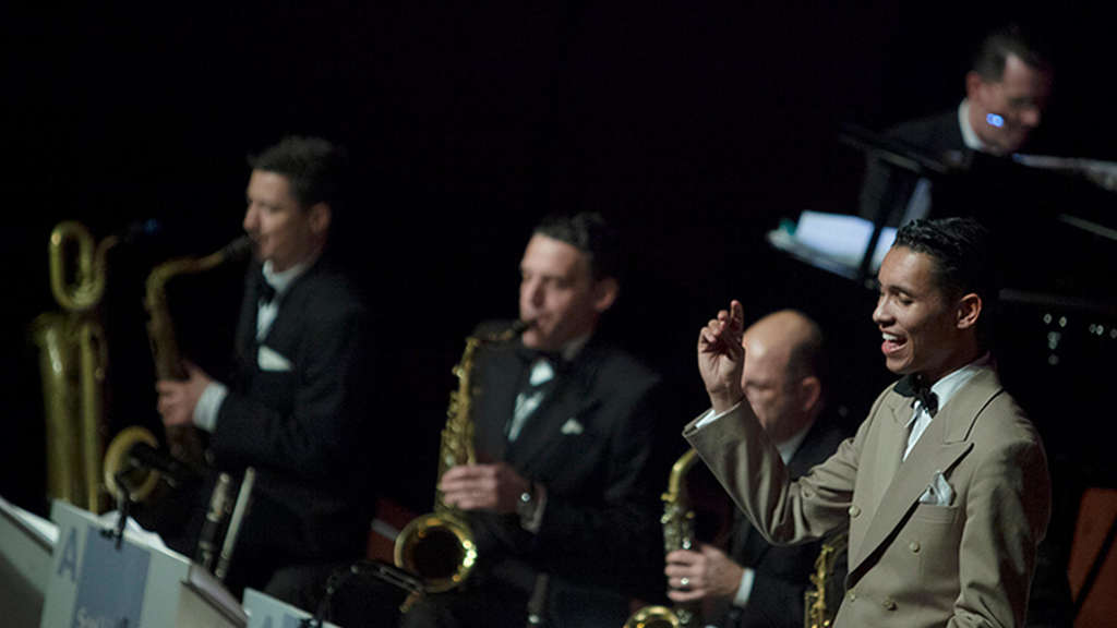 Das Swing Dance Orchestra mit David Hermlin.