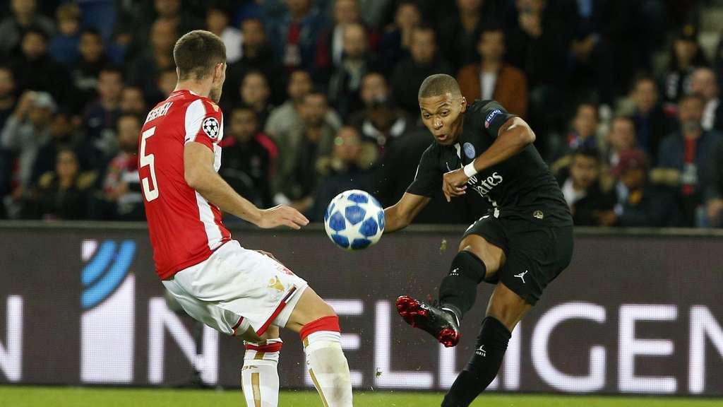 Paris Saint-Germain besiegte in der Champions League Roter Stern Belgrad mit 6:1.