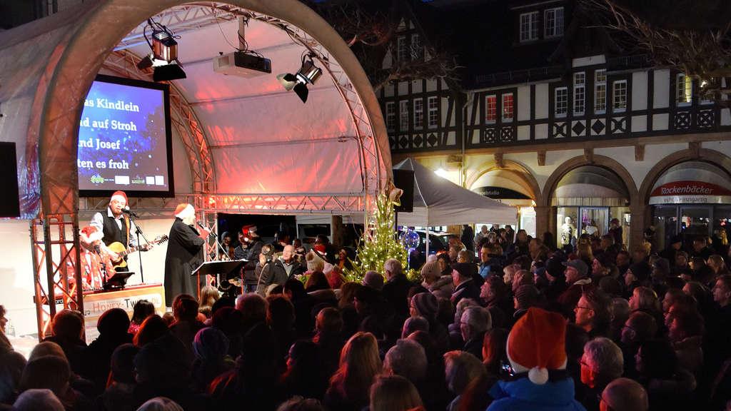 Weihnachtsmarkt Bad Homburg.Finale Mit Rudelsingen Und Weihnachtsgeschichte Polizei