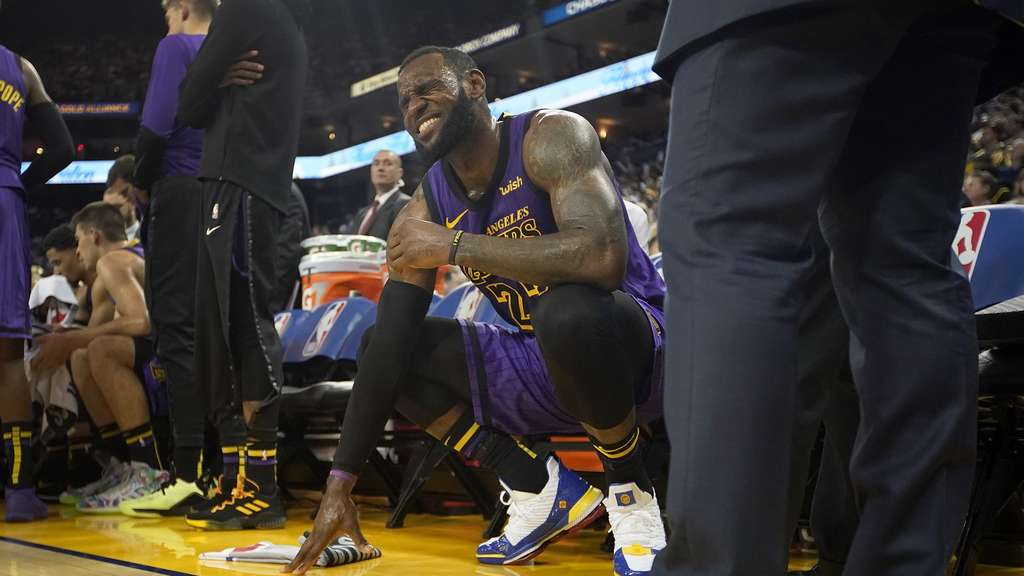 Verletzt: Lakers-Superstar LeBron James.