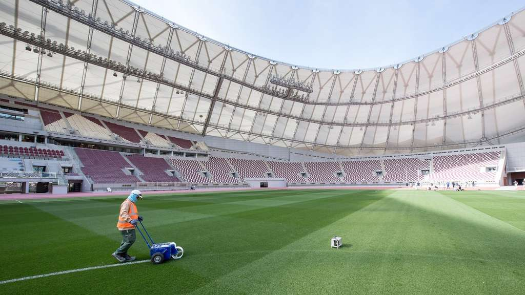 Noch leer: Das WM-Stadion Khalifa International in Katar.