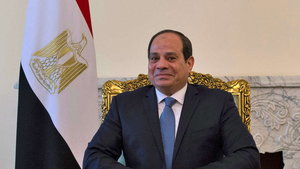 FILE PHOTO: Egyptian President Abdel Fattah al-Sisi is pictured during his meeting with the U.S. Secretary of State Mike Pompeo in Cairo