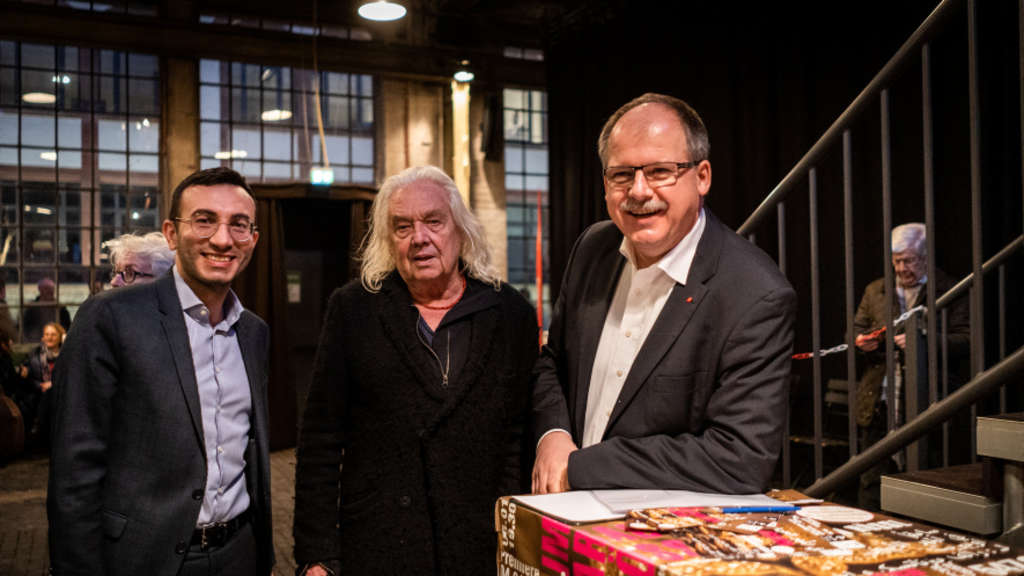 Mike Josef, Willy Praml und Stefan Körzell (von links).