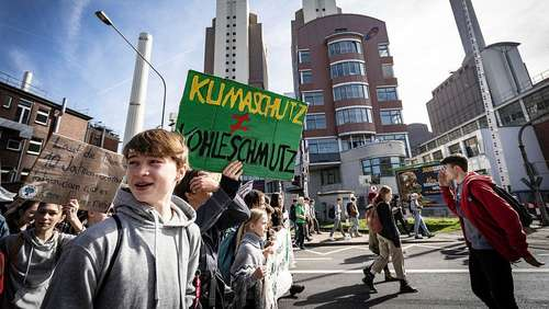 Fridays-for-Future-Protest in Frankfurt