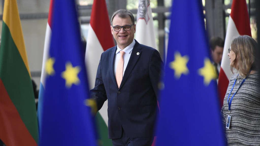 Auf Abschiedstour in Brüssel? Finnlands Premier Juha Sipilä.