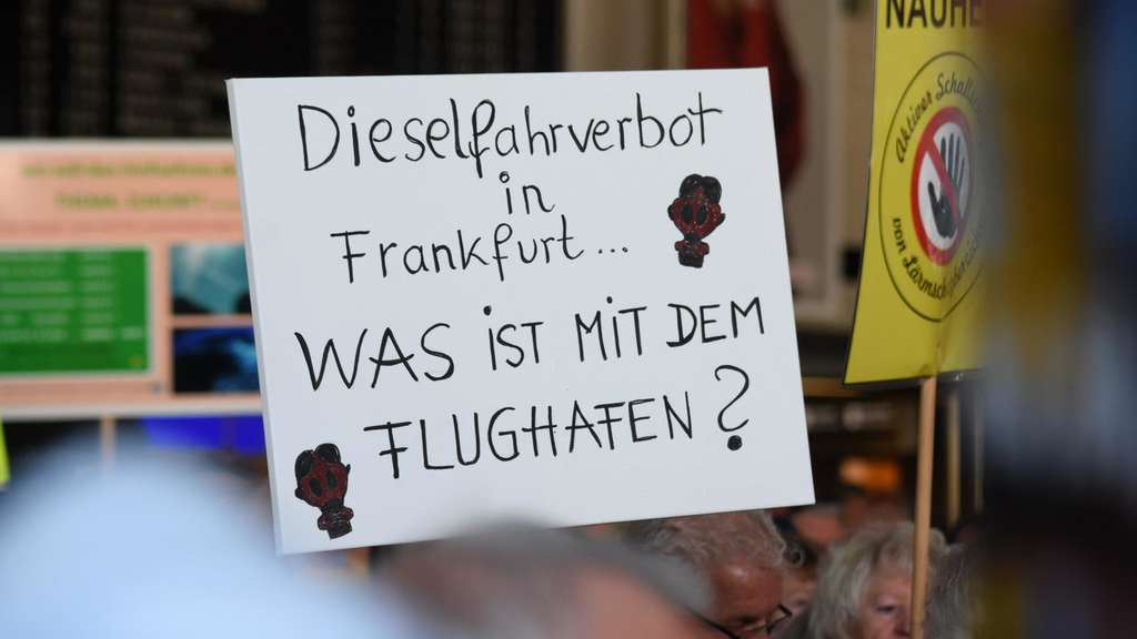 Anti-Fluglärm-Demo.