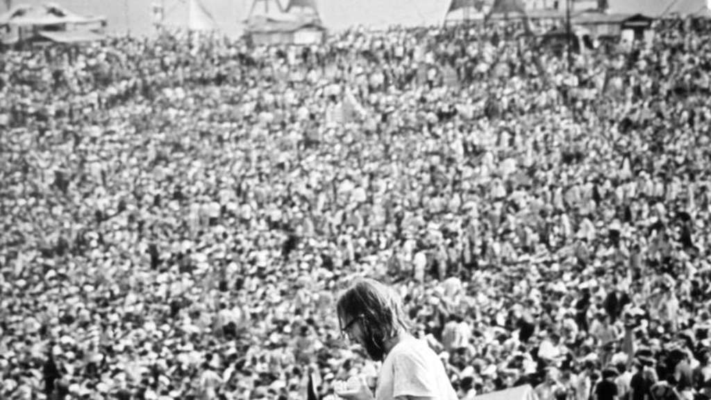 Love and Peace in Woodstock 1969. Foto: UPI