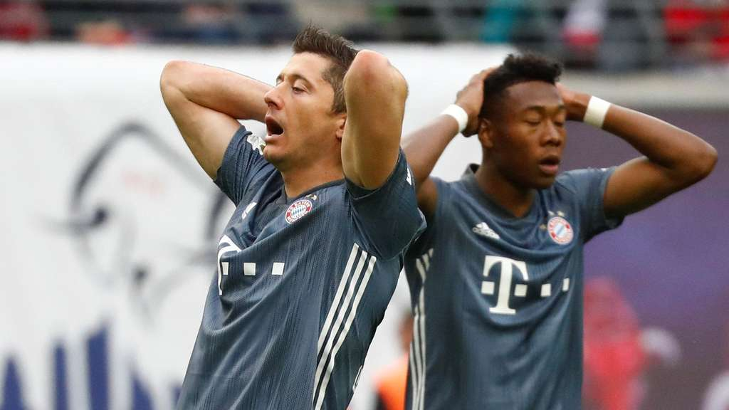 Verpasste Chance: Robert Lewandowski (l.) und David Alaba in Leipzig.
