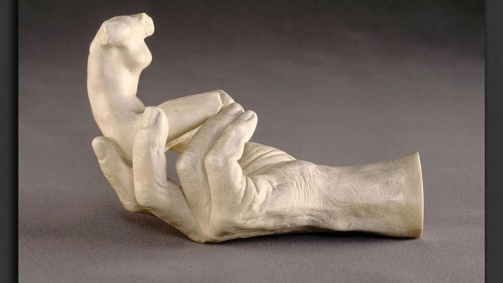 Auguste Rodin Hand of Rodin with a Female Figure French 1840 1917 1917 plaster PUBLICATIONxIN