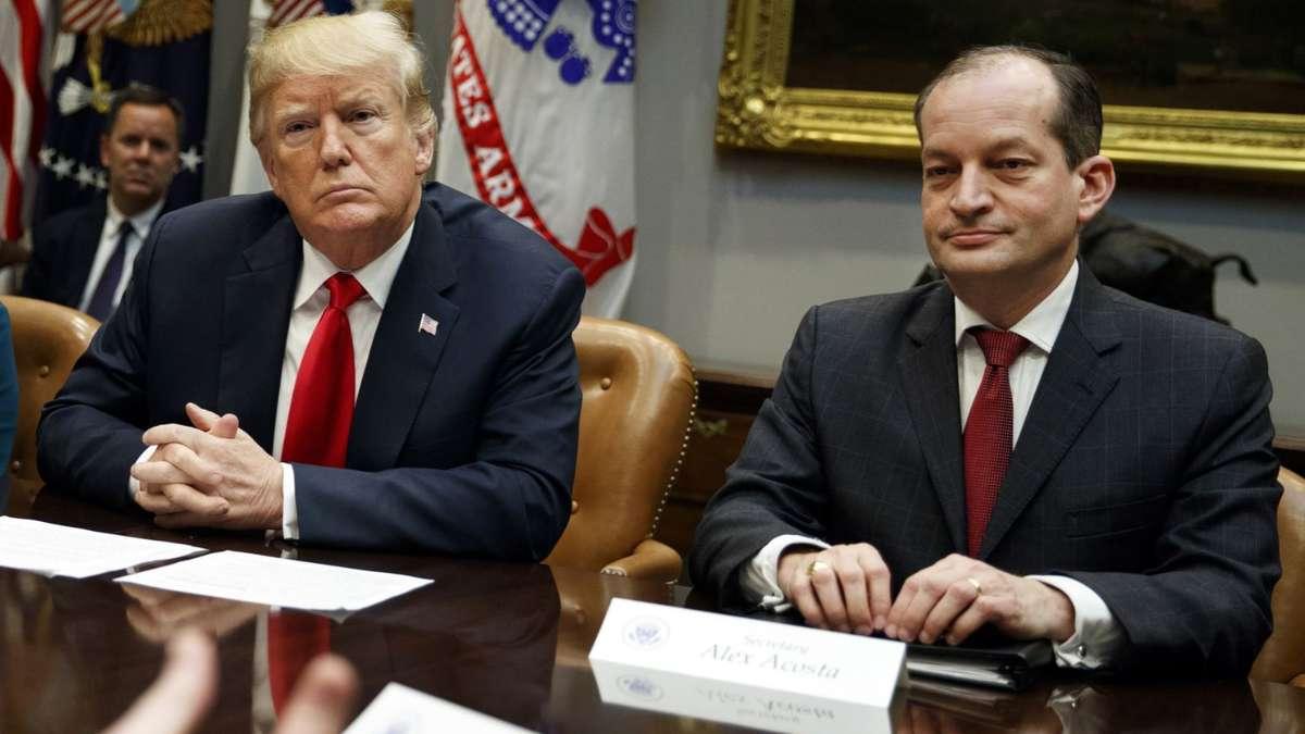 Epstein-Affäre: Trumps Arbeitsminister unter Druck
