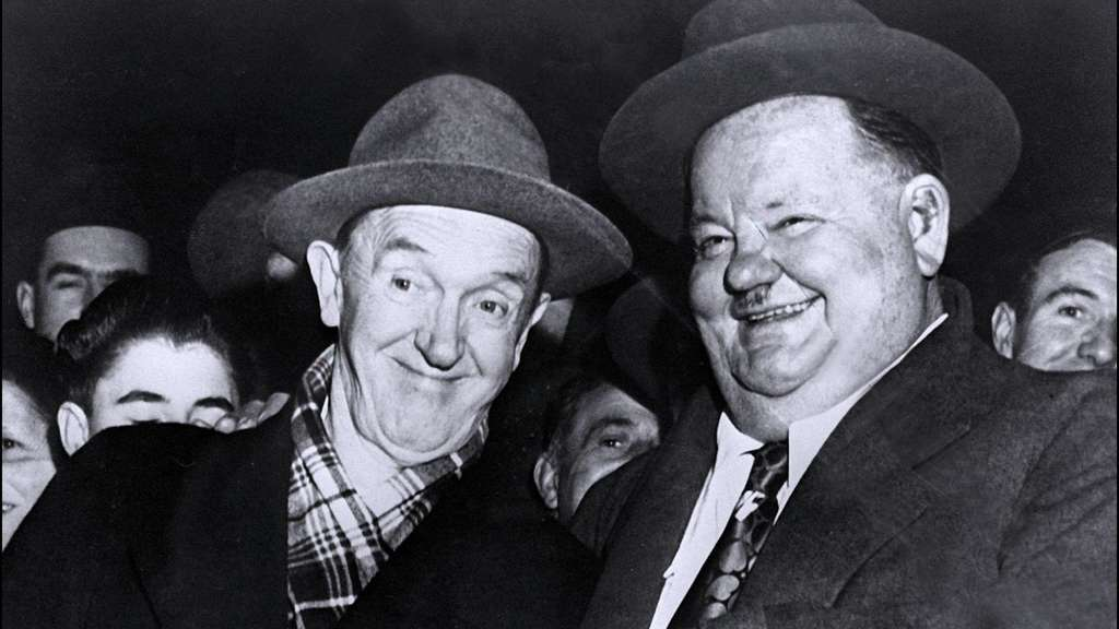 Freunde auch abseits der Kamera: Oliver Hardy (r) and Stan Laurel.
