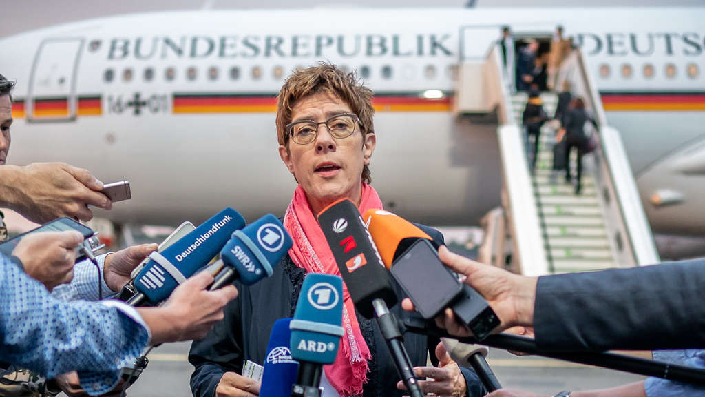 Kramp-Karrenbauer in Jordanien.