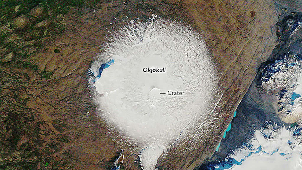 Der Okjökull im September 1986.