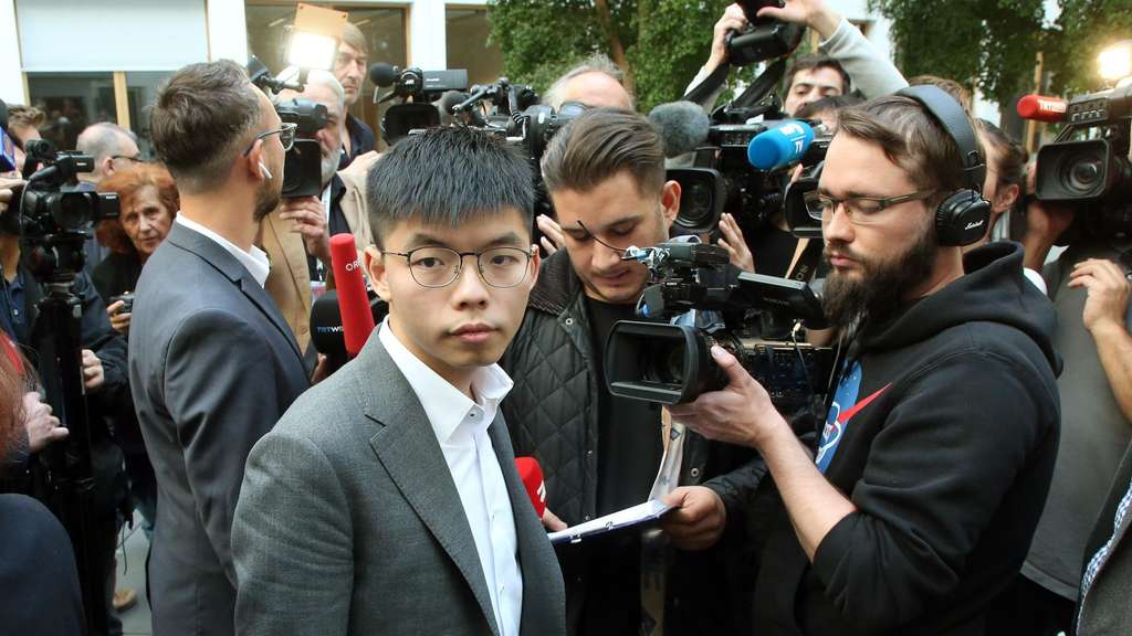 Joshua Wong in Berlin.
