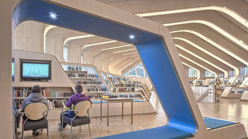 Bücherwelten für die Zukunft: Die öffentliche Bibliothek von Vennesla (weniger als 15 000 Einwohner), 2011 fertiggestellt.