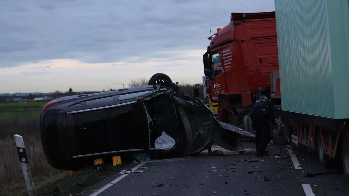 Unfall B44 Groß-Gerau