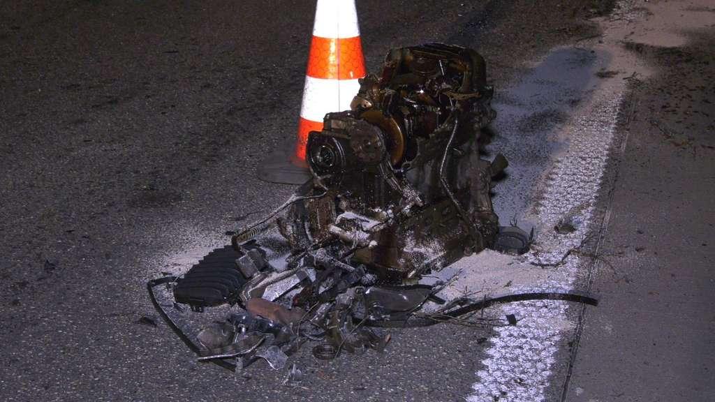 Unfall A60 Rüsselsheim