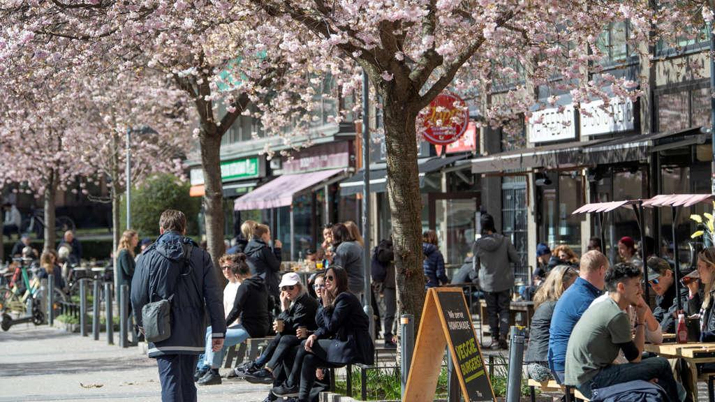 Abstand halten auf Schwedisch: Stockholm rechnet zwar mit vielen Toten, will aber keine Schließung von Cafés oder Clubs.