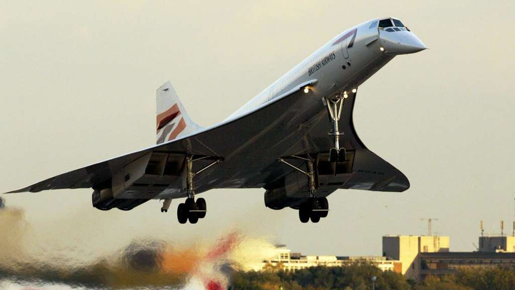 Eine Concorde der British Airways bei der Landung in London. Adrian DENNIS/AFP