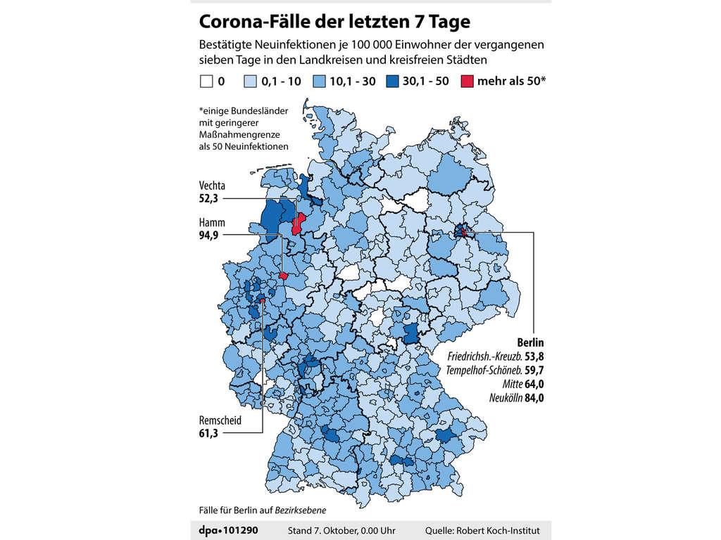Corona In Deutschland Robert Koch Institut Meldet Aktuelle Fallzahlen Panorama