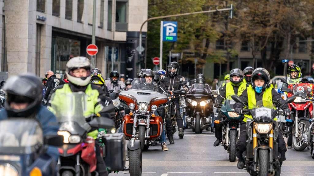 Motorradunfall Frankfurt