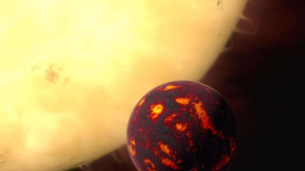 Eine Supererde mit der Katalognummer 55 Cancri e und umkreist eine Sonne im Sternbild Krebs.