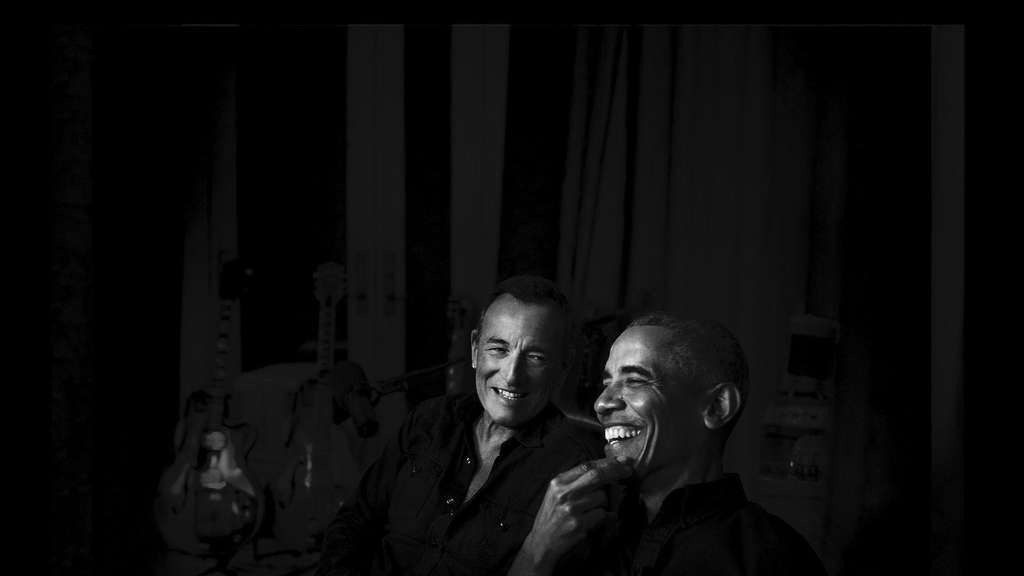 Bruce Springsteen und Barack Obama: White guy, black guy