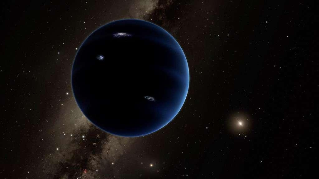 Bisher hat niemand den mutmaßlichen neunten Planeten zu Gesicht bekommen. (künstlerische Darstellung)